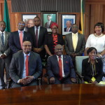 ourism and Arts Permanent Secretary, Mr. Steven Mwansa (front row centre), Zambia's High Commissioner to South Africa His Excellency Mr. Emmanuel Mwamba (left) and Deputy High Commissioner, Ms. Philomena Kachesa pose for a group photo with staff after the meeting at the High Commission in Pretoria on 5th October, 2016